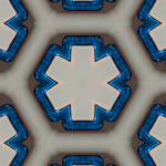 Blue Plastic Texture Pattern