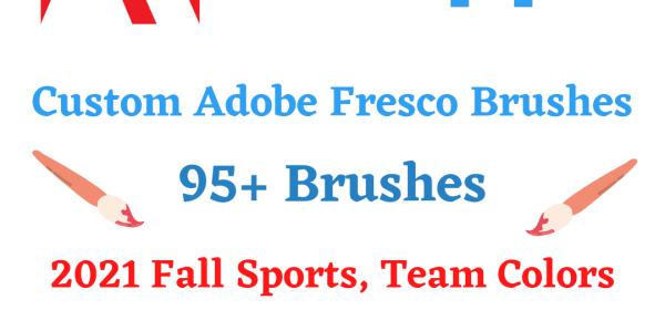 2021 Fall Sports Team Colors Brush Set For Adobe Fresco