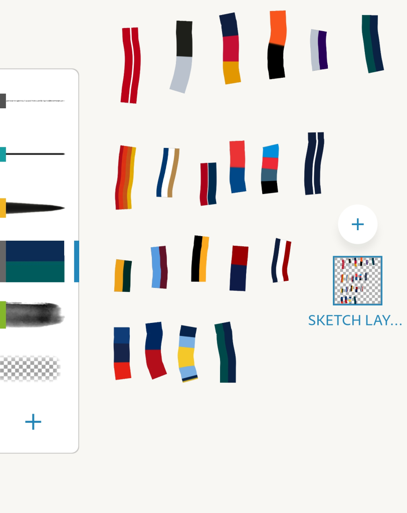 2021 America's PastimeTeam Colors Brush Set For Adobe Fresco