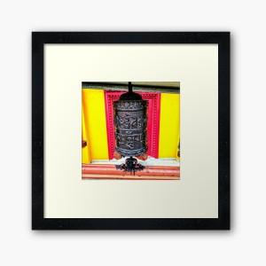 Buddhist Temple Prayer Wheel